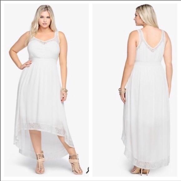 torrid Dresses & Skirts - Hi-Low maxi with lace trim